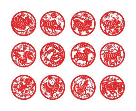 圆形12生肖剪纸 素材中国sccnn com