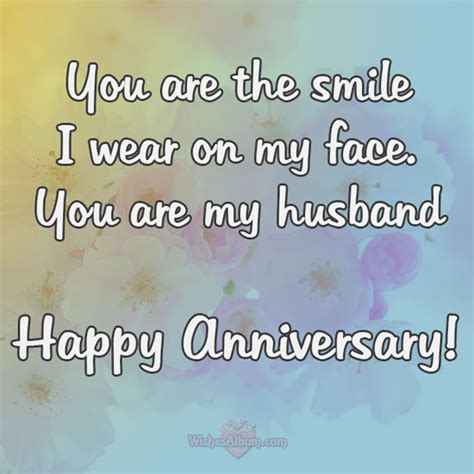 Wedding Anniversary Wishes Words For by Wedding Anniversary Wishes For Husband Wishesalbum