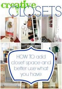 Creative Closets Remodelaholic 14 Creative Closet Solutions To Organize