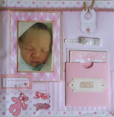 scrapbook layout ideas for baby girl baby girl birth layout scrapbook com scrapbooking