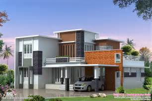 modern homes plans 2400 sq feet modern contemporary villa kerala home