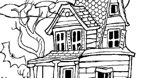 printable coloring pages of haunted houses halloween history boston 521466 171 coloring pages for free 2015