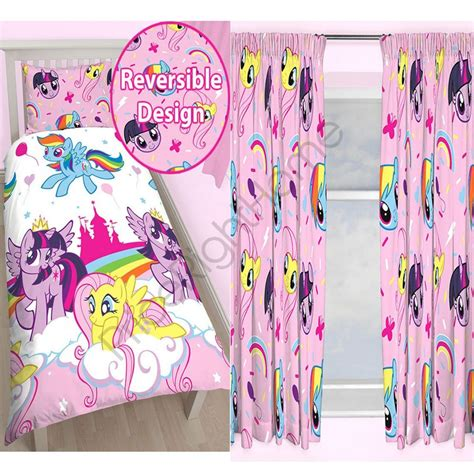 my little pony curtains my little pony rotary single duvet cover matching 72