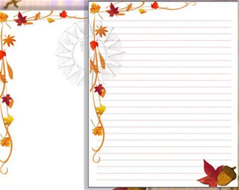 printable fall leaf writing paper digital stationery digital letterhead letterhead