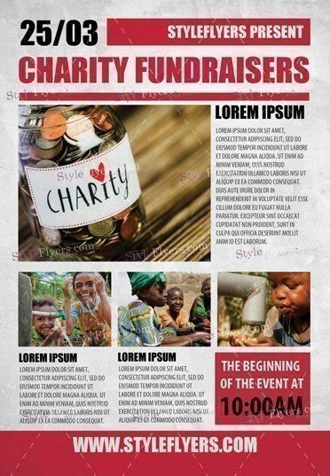 Charity Fundraisers Psd Flyer Template 18072 Styleflyers Fundraiser Flyer Templates Photoshop