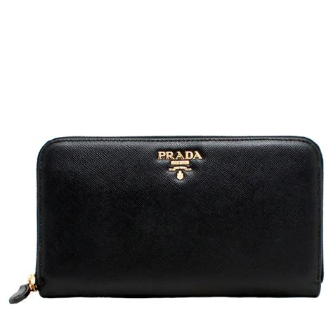 9 Top Prada Wallets by Prada 1m0506 Saffiano Leather Zip Around Wallet