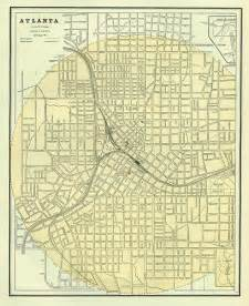 Atlanta Street Map by Atlanta Street Map 1888 Flickr Photo Sharing