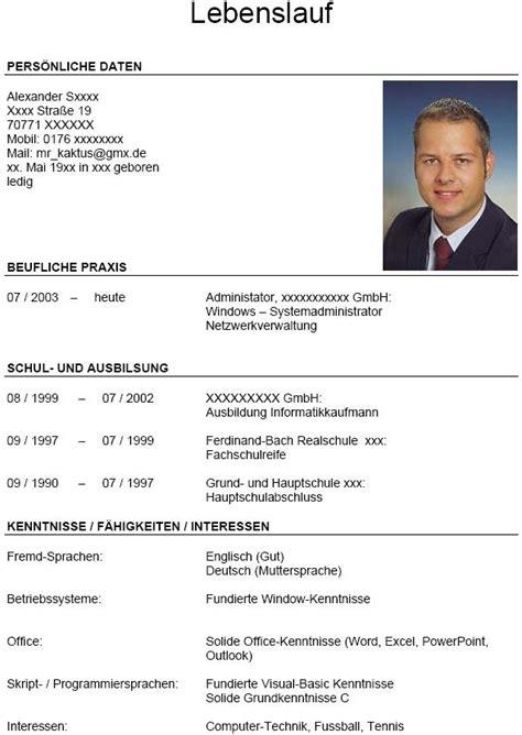 Bewerbung Lebenslauf Hochladen Lebenslauf F 252 R Informatikkaufmann Mit Berufserfahrung Bewerbungsforum