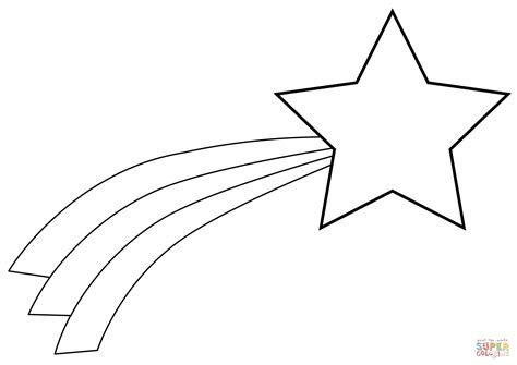 coloring page of a shooting star christmas shooting star coloring page free printable