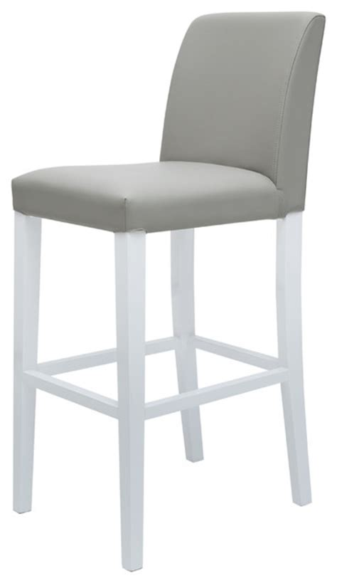 White Or Gray Stool by Canini Bar Stool Grey White