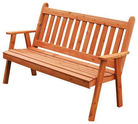 traditional benches 4 cedar garden bench traditional english stain