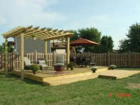 Free Standing Pergola On Patio by Small Backyard Decks Yard 16x24 Free Standing Deck