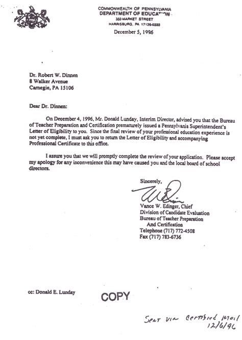 sle letter notifying a fort cherry info the pde s clerical error part 3 of 4