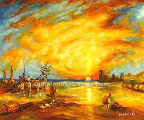 painting images flint castle by william turner painting id la 1890 b