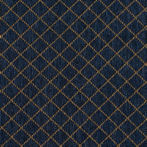 Blue And Gold Upholstery Fabric by Royal Blue And Gold Checkered Damask Upholstery Fabric