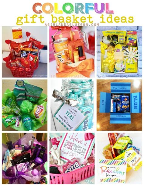 colorful baskets colorful gift basket ideas a and a glue gun