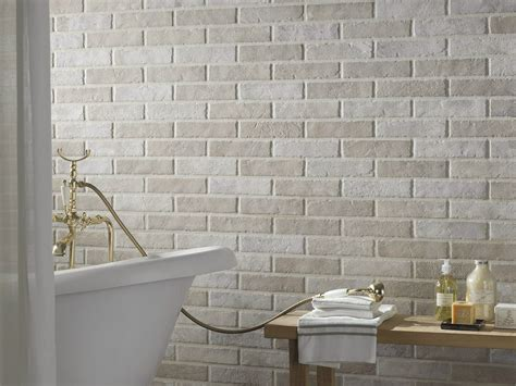 brick effect bathroom tiles porcelain stoneware wall tiles with brick effect tribeca