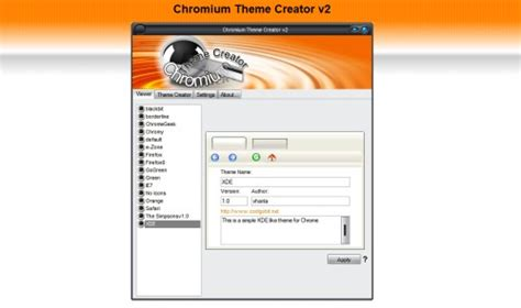 google themes editor creare temi per google chrome