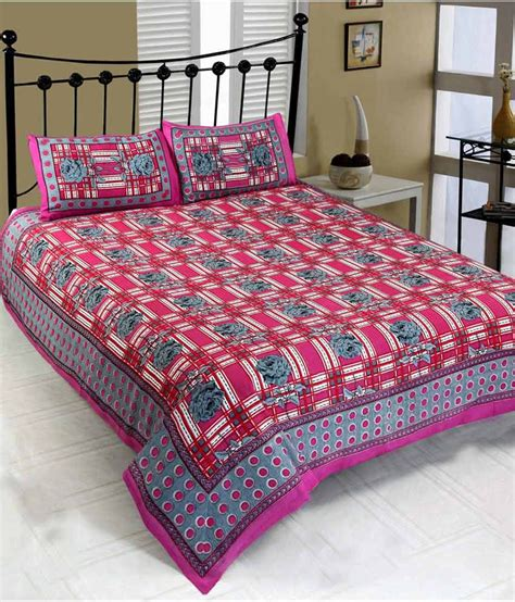 mesmerization unique jaipuri printed double bed sheet with