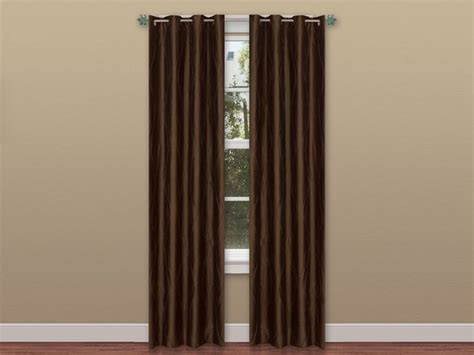 two color curtain panels 2 panel solid curtain set w grommets 4 colors