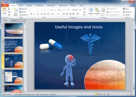 free healthcare powerpoint templates vital organ powerpoint template with brain scan animation