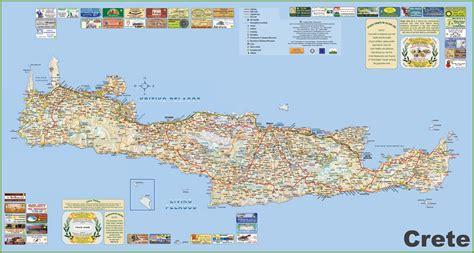 crete map crete tourist map