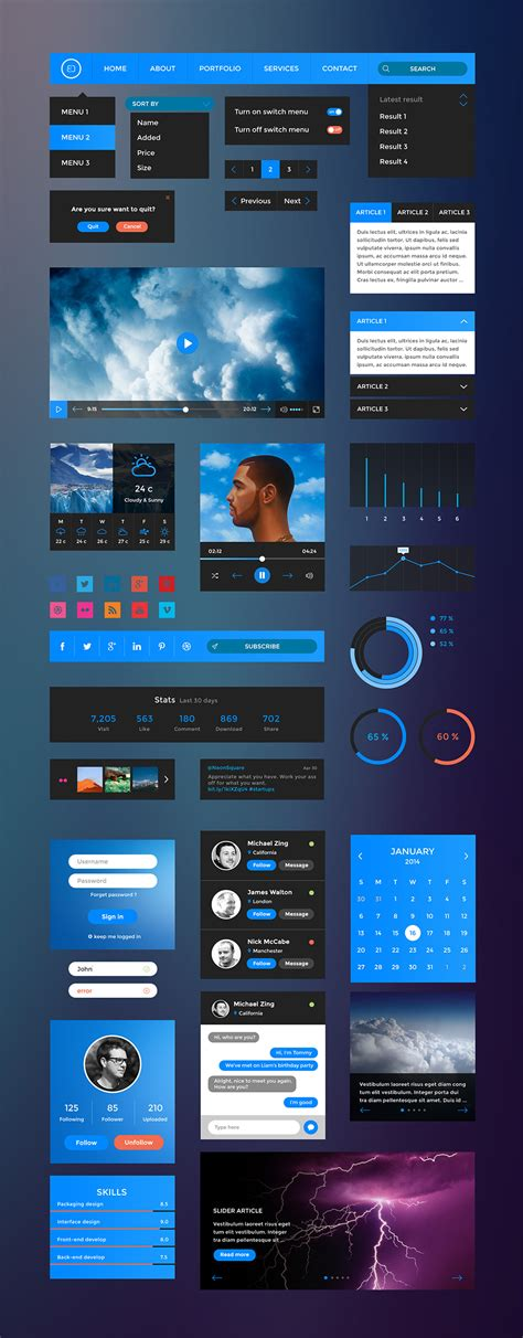 design elements tv free ui elements psd kit graphicsfuel