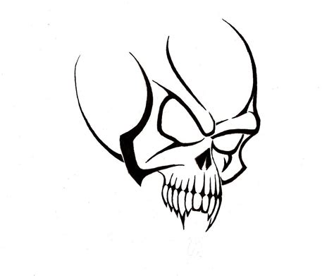 simple skull tattoo designs simple tribal skull designs clipart best