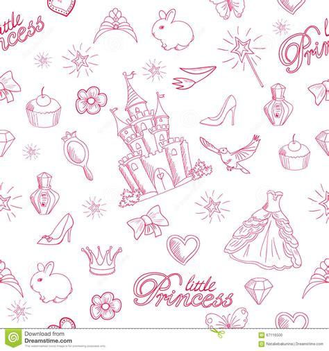 pattern princess vector pink princess seamless pattern stock vector image 67116500