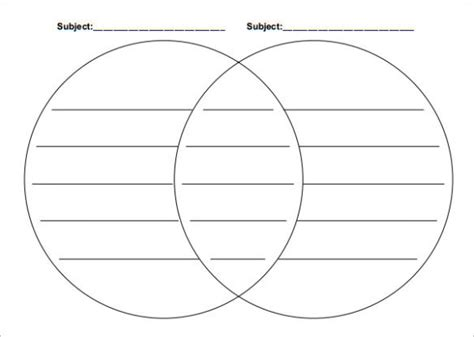 printable venn diagram free printable venn diagram template calendar template