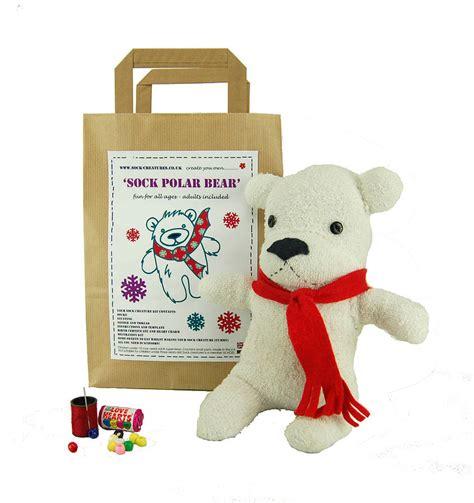 polar sock monkey sock polar craft kit by sock creatures