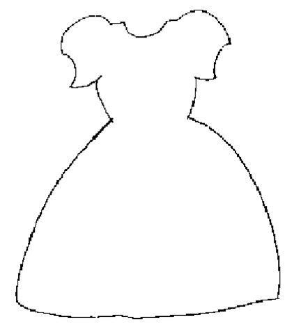 dress template paper dolls dresses