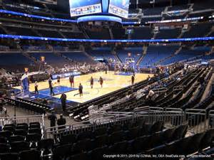 amway center section 117 seat views seatgeek