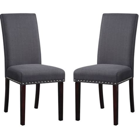 dhi nail upholstered dining chair set of 2 colors wheat dhi nail upholstered dining chair set of 2 colors walmart