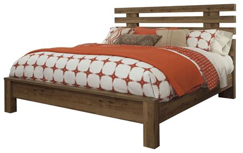 medium bed cinrey medium brown king panel bed