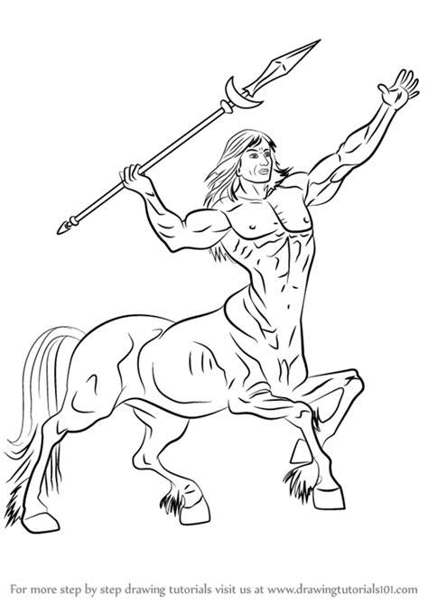 how to draw doodle creatures step by step how to draw a centaur drawingtutorials101
