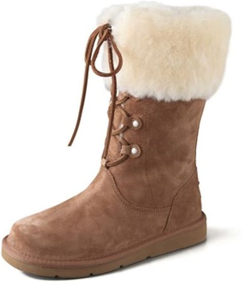 lace up ugg boots ugg montclair lace up boots in brown lyst