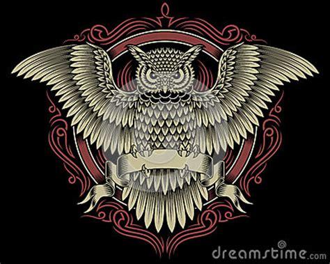 owl crest stock vector image