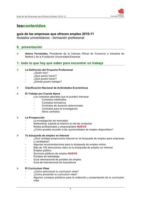 Modelo Curriculum Suiza Dossier Gu 237 A De Las Empresas Que Ofrecen Empleo