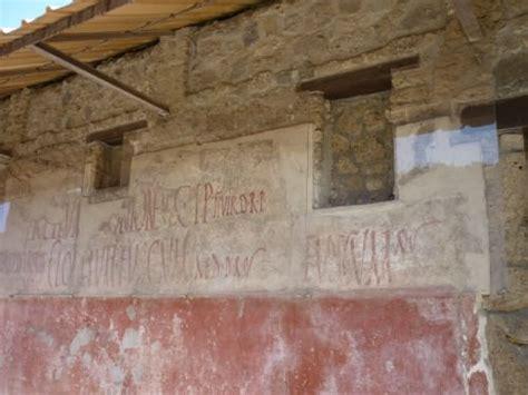 pompeii graffiti signs electoral notices article