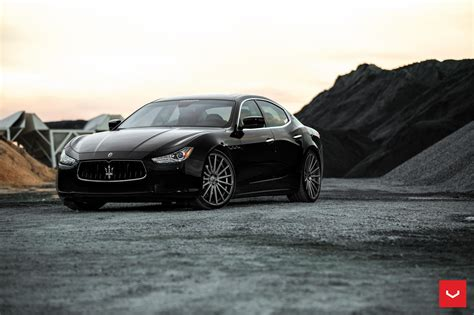 maserati vossen black maserati ghibli looking fly on custom polished
