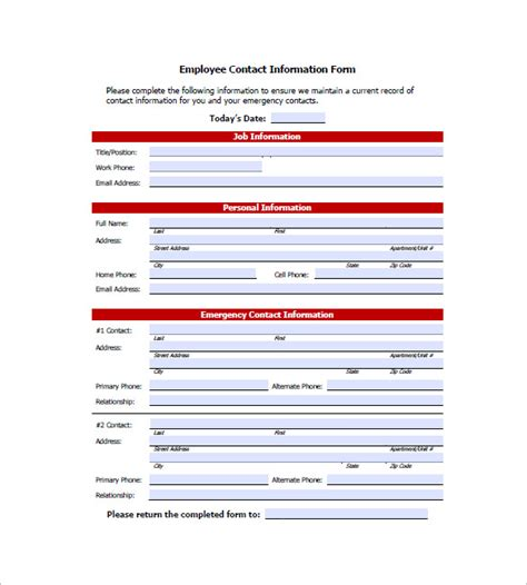 contact information list template contact list template 10 free word excel pdf format