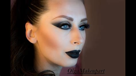 makeup dark black lipstick my makeup tutorial olga makeupart