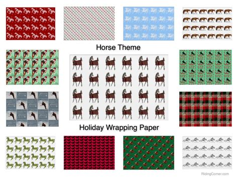themed gift wrapping paper horse theme holiday gift wrapping paper christmas
