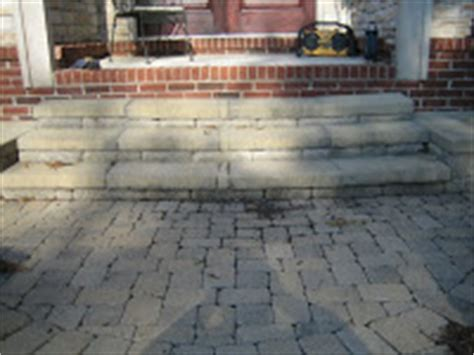 how to fix a sinking front porch brick pavers canton plymouth northville arbor patio