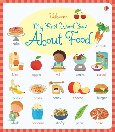 words and pictures book my word book about food at usborne books at home