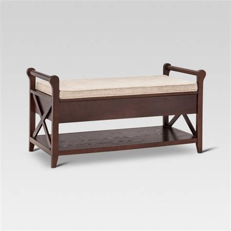 wooden entryway bench vincent entryway bench wood threshold target