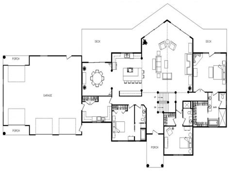 Unique Open Floor Plans | open floor plan design ideas unique open floor plan homes