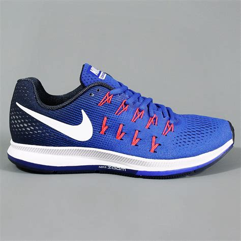 whirlwind sports nike air zoom pegasus 33 running shoe racer blue white mid navy