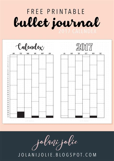 printable bullet journal ideas free printable bullet journal 2017 calendex bullet